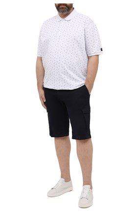 Мужское хлопковое поло PAUL&SHARK белого цвета, арт. 21411235/C00/3XL-6XL | Фото 2 (Рукава: Короткие; Длина (для топов): Удлиненные; Материал внешний: Хлопок; Застежка: Пуговицы; Стили: Кэжуэл)