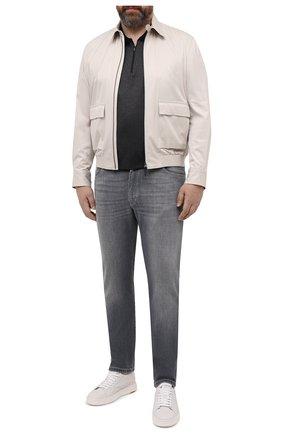 Мужское хлопковое поло PAUL&SHARK темно-серого цвета, арт. 21411243/C00/3XL-6XL   Фото 2