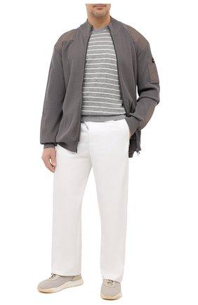 Мужской хлопковый кардиган PAUL&SHARK серого цвета, арт. 21411710/C00/3XL-6XL   Фото 2