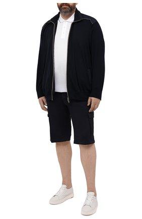 Мужские хлопковые шорты PAUL&SHARK темно-синего цвета, арт. 21414003/E7A | Фото 2