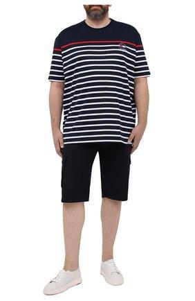 Мужские хлопковые шорты PAUL&SHARK темно-синего цвета, арт. 21414003/E7A/62-64 | Фото 2