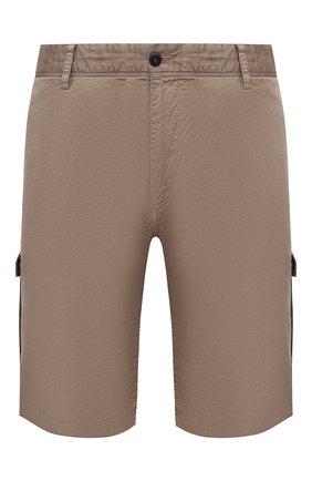 Мужские шорты из хлопка и шелка PAUL&SHARK бежевого цвета, арт. 21414116/FIZ | Фото 1