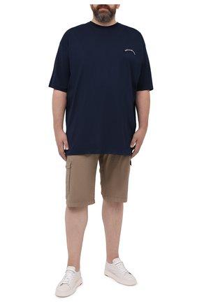 Мужские шорты из хлопка и шелка PAUL&SHARK бежевого цвета, арт. 21414116/FIZ | Фото 2