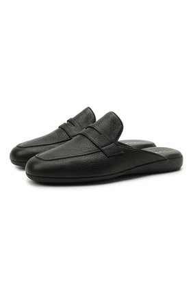 Мужского кожаные домашние туфли HARRYS OF LONDON черного цвета, арт. 353/406 | Фото 1