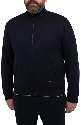 Мужской хлопковый спортивный костюм LUCIANO BARBERA темно-синего цвета, арт. 119500/81182/58-62 | Фото 2