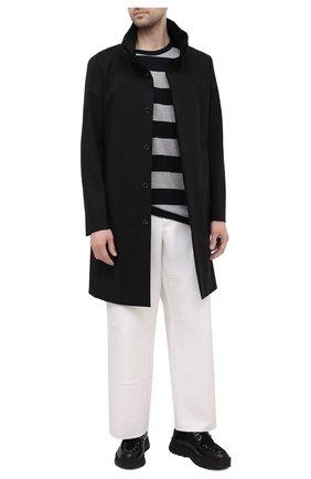 Мужская хлопковая футболка YOHJI YAMAMOTO серого цвета, арт. HD-T51-074 | Фото 2 (Длина (для топов): Стандартные; Рукава: Короткие; Материал внешний: Хлопок; Принт: С принтом; Стили: Гранж)