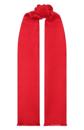 Женский шарф из шелка и шерсти SALVATORE FERRAGAMO красного цвета, арт. Z-0725369 | Фото 1