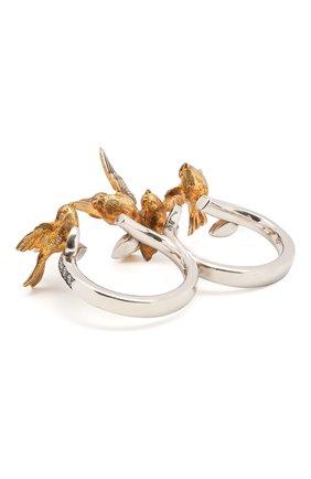 Женское кольцо birds QUEENSBEE разноцветного цвета, арт. 102357/14,17   Фото 2
