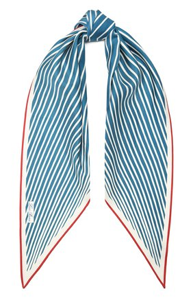Женский шелковый платок LORO PIANA синего цвета, арт. FAL6131 | Фото 1