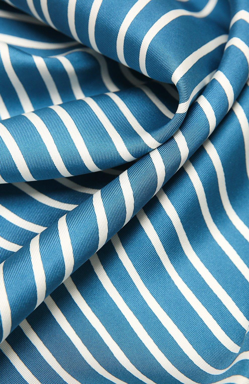 Женский шелковый платок LORO PIANA синего цвета, арт. FAL6131 | Фото 2