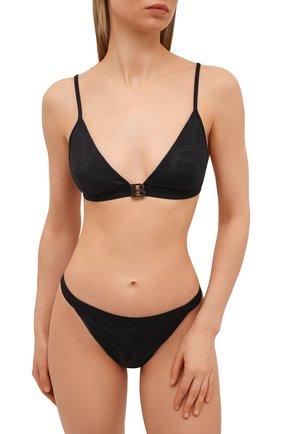 Женский раздельный купальник BALMAIN черного цвета, арт. BKB840360   Фото 2