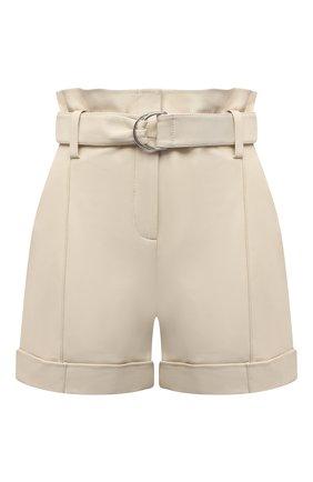 Женские кожаные шорты YVES SALOMON светло-бежевого цвета, арт. 21EYP21240APXX | Фото 1