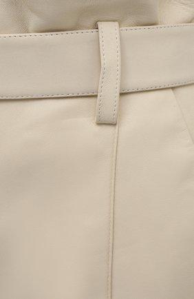 Женские кожаные шорты YVES SALOMON светло-бежевого цвета, арт. 21EYP21240APXX | Фото 5