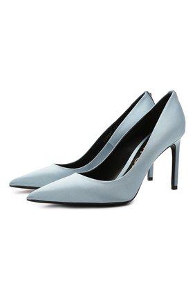 Женские текстильные туфли t-screw TOM FORD светло-голубого цвета, арт. W2326T-STA | Фото 1