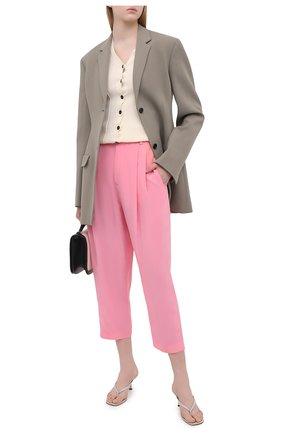 Женские шелковые брюки EMILIO PUCCI светло-розового цвета, арт. 1ERT02/1E665 | Фото 2