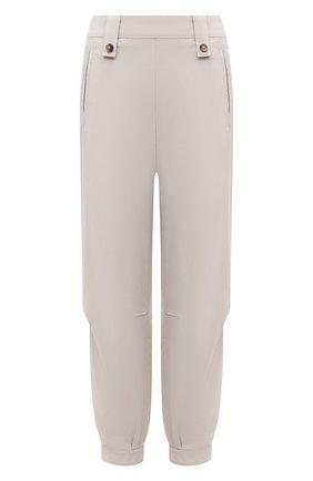 Женские брюки GIORGIO ARMANI светло-серого цвета, арт. 1SHPP0GJ/T02AW | Фото 1