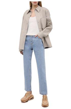 Женские текстильные кроссовки b-bold BALMAIN бежевого цвета, арт. VN1C591/TCLU | Фото 2 (Материал внутренний: Текстиль, Натуральная кожа; Материал внешний: Текстиль; Подошва: Платформа)