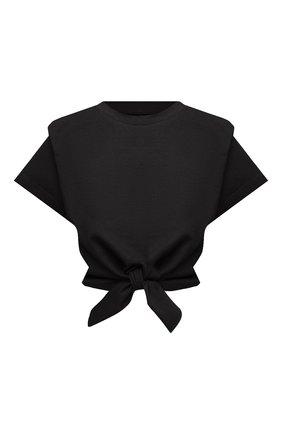 Женская хлопковая футболка ISABEL MARANT черного цвета, арт. TS0780-21P027I/ZELIT0   Фото 1