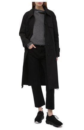 Женские текстильные кроссовки VIC MATIE черного цвета, арт. 1Z5436D.U02C8S0101 | Фото 2