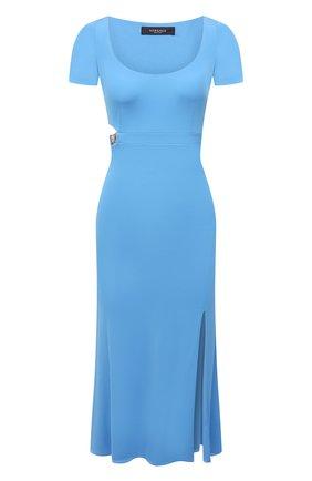 Женское платье из вискозы VERSACE голубого цвета, арт. A89151/A208595 | Фото 1