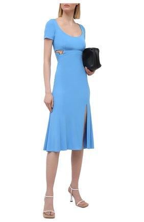 Женское платье из вискозы VERSACE голубого цвета, арт. A89151/A208595 | Фото 2