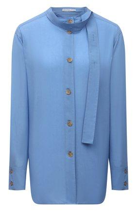 Женская рубашка из вискозы REJINA PYO голубого цвета, арт. C334/VISC0SE   Фото 1