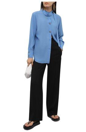 Женская рубашка из вискозы REJINA PYO голубого цвета, арт. C334/VISC0SE   Фото 2