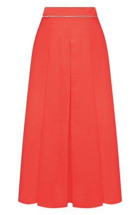 Женская льняная юбка LORO PIANA кораллового цвета, арт. FAL6345 | Фото 1