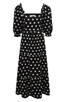 Женское льняное платье FAITHFULL THE BRAND черно-белого цвета, арт. FF1644-EDP | Фото 1