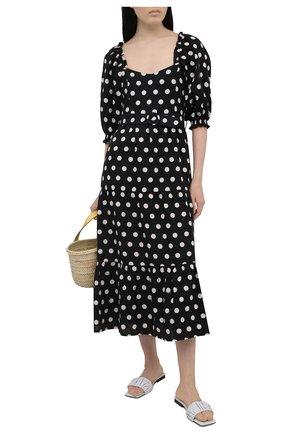 Женское льняное платье FAITHFULL THE BRAND черно-белого цвета, арт. FF1644-EDP | Фото 2