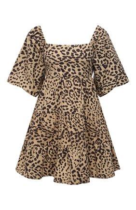 Женское хлопковое платье FAITHFULL THE BRAND леопардового цвета, арт. FF1718-SHP | Фото 1