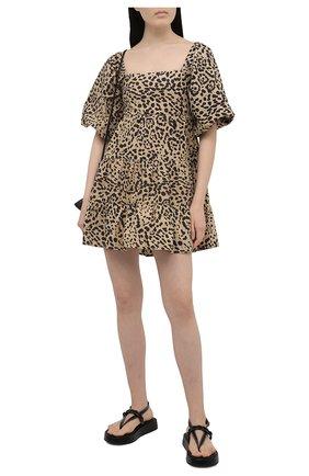 Женское хлопковое платье FAITHFULL THE BRAND леопардового цвета, арт. FF1718-SHP | Фото 2