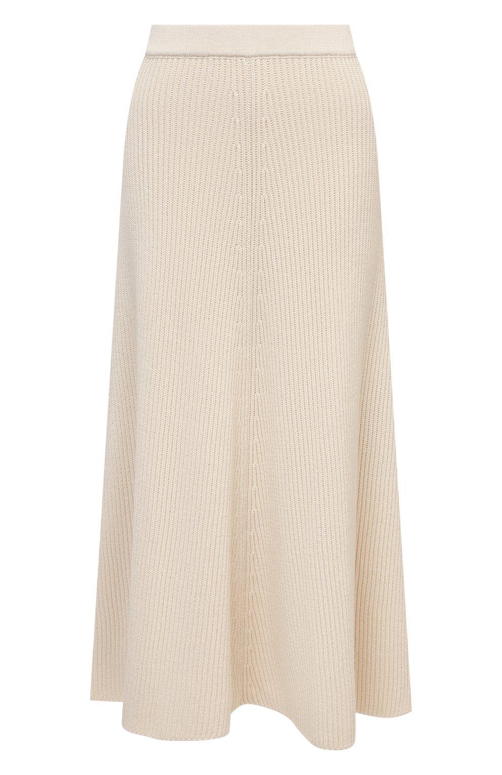 Женская хлопковая юбка JOSEPH светло-бежевого цвета, арт. JF005313 | Фото 1