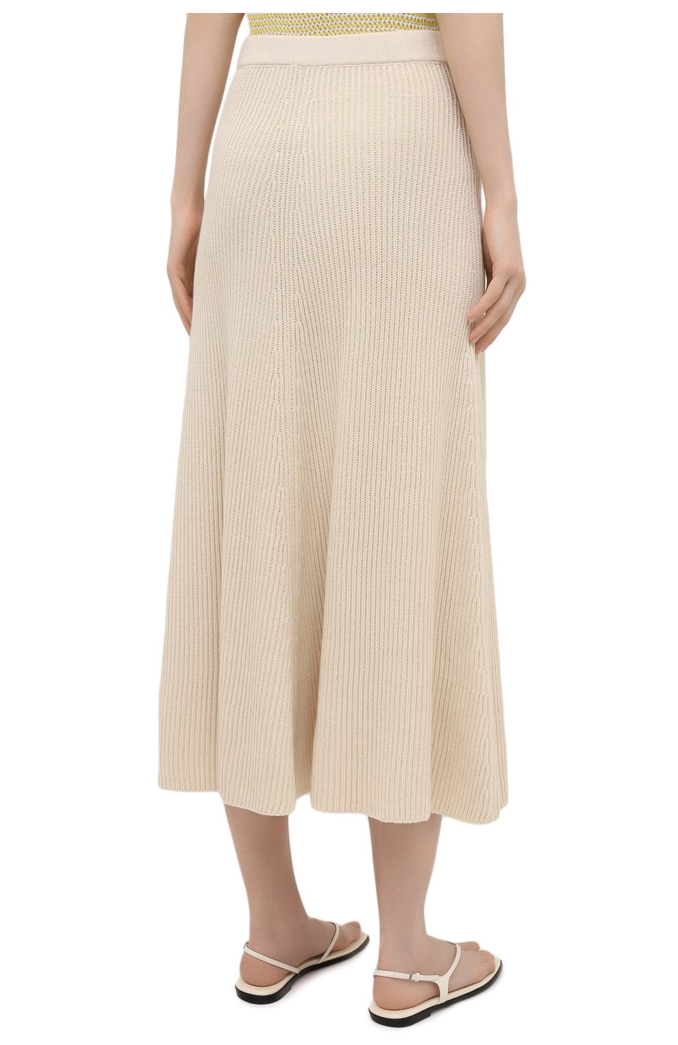Женская хлопковая юбка JOSEPH светло-бежевого цвета, арт. JF005313 | Фото 4