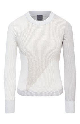 Женский хлопковый пуловер LORENA ANTONIAZZI серого цвета, арт. P21114GM004/2559 | Фото 1