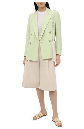 Женский хлопковый пуловер LORENA ANTONIAZZI серого цвета, арт. P21114GM004/2559 | Фото 2