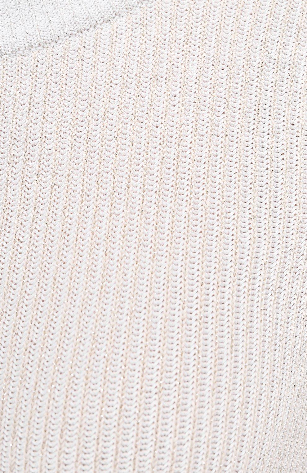 Женский хлопковый пуловер LORENA ANTONIAZZI серого цвета, арт. P21114GM004/2559   Фото 5 (Рукава: Длинные; Длина (для топов): Стандартные; Материал внешний: Хлопок; Женское Кросс-КТ: Пуловер-одежда; Стили: Кэжуэл)