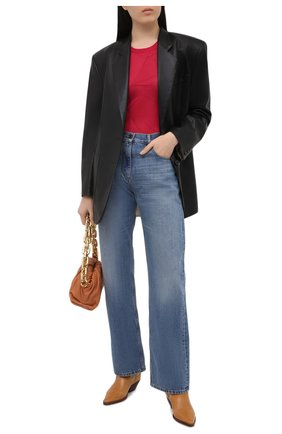 Женский пуловер из вискозы LORENA ANTONIAZZI фуксия цвета, арт. P21117TM013/2435 | Фото 2