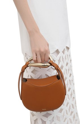 Женская сумка kiss CHLOÉ светло-коричневого цвета, арт. CHC21US350E48   Фото 2