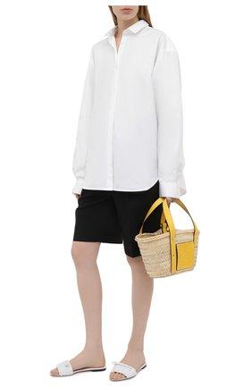 Женские кожаные шлепанцы bianca DOLCE & GABBANA белого цвета, арт. CQ0431/A0397 | Фото 2 (Каблук высота: Низкий; Материал внутренний: Натуральная кожа; Подошва: Плоская)