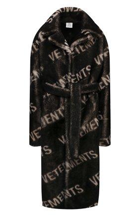 Женская шуба из овчины VETEMENTS темно-коричневого цвета, арт. UE51C0900W 2401/W | Фото 1