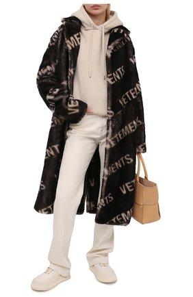 Женская шуба из овчины VETEMENTS темно-коричневого цвета, арт. UE51C0900W 2401/W | Фото 2