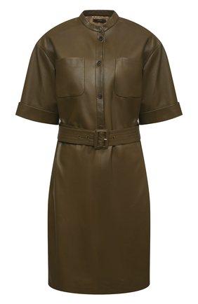 Женское кожаное платье WINDSOR хаки цвета, арт. 52 DL513 10004214   Фото 1