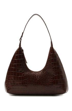 Женская сумка amber large BY FAR темно-коричневого цвета, арт. 21SSAMRSNEDLAR   Фото 1