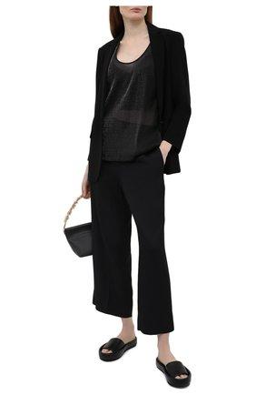Женский топ из вискозы EMPORIO ARMANI черного цвета, арт. ANK27T/A2154 | Фото 2