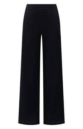 Женские льняные брюки EMPORIO ARMANI темно-синего цвета, арт. ANP40T/A2057   Фото 1