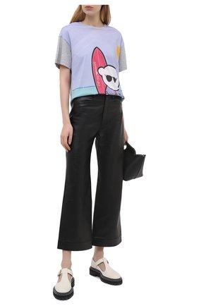 Женская хлопковая футболка EMPORIO ARMANI сиреневого цвета, арт. 3K2T9A/2JSYZ | Фото 2