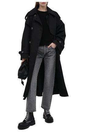 Женский свитшот из вискозы EMPORIO ARMANI черного цвета, арт. 3K2MWA/2M24Z   Фото 2