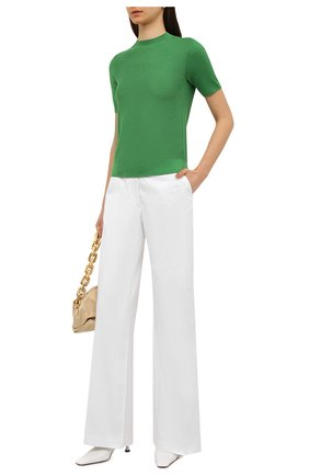 Женский пуловер из шелка и хлопка LORO PIANA зеленого цвета, арт. FAL5794 | Фото 2