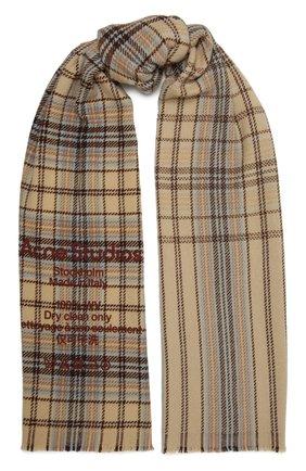 Женский шерстяной шарф ACNE STUDIOS разноцветного цвета, арт. CA0095/W | Фото 1